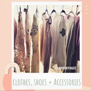 Adults + Kids Clothes, Shoes + Accessories